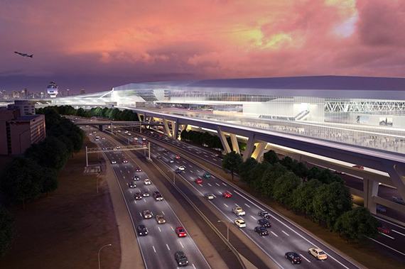 Rendering of the renovated LaGuardia airport (credit: Office of the Governor)