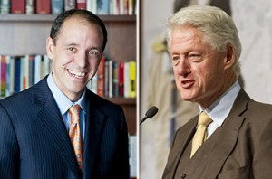 From left: Chris Lehane and Bill Clinton