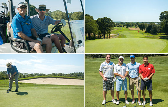 Clockwise from top left: Allen Miller and Carter Gray, Baiting Hollow Golf Club, Kevin Gallagher and Brian Flax, Mark Angelo, Miles Bloom and John Stern