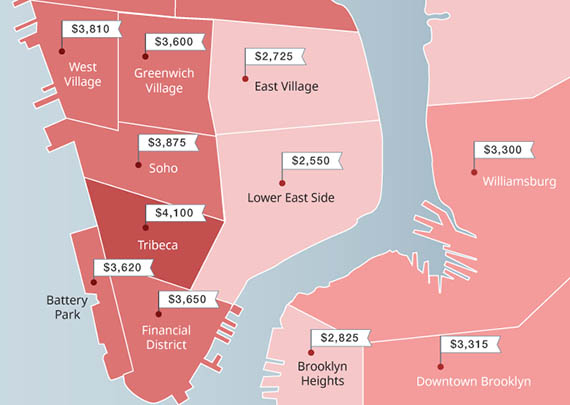 nyc cheapest and most expensive neighborhoods to rent zumper the real deal new york. Black Bedroom Furniture Sets. Home Design Ideas