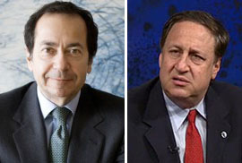 From left: John Paulson and  Adam Aron