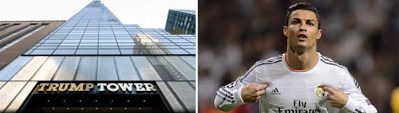Trump Tower and Cristiano Ronaldo