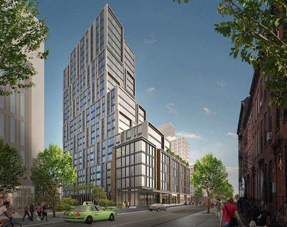 Rendering of 615 Dean Street in Prospect Heights (credit: Kohn Petersen Fox)