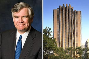 From left: Carlyle Group's William Conway and the Corinthian in Murray Hill