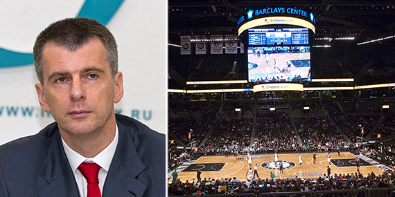 Mikhail Prokhorov and a Brooklyn Nets game at Barclays Center