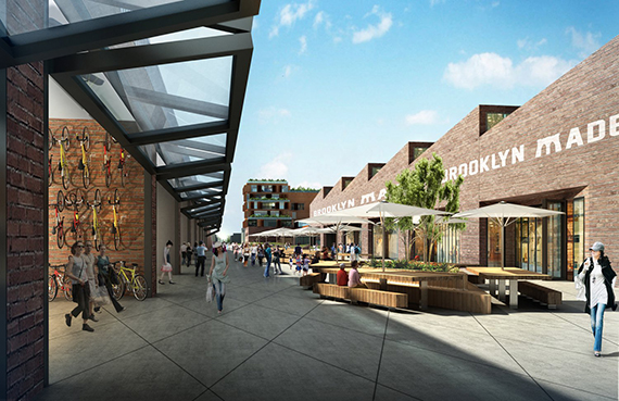 Rendering of Red Hook Innovation Studios in Brooklyn (credit: Raft Architects)