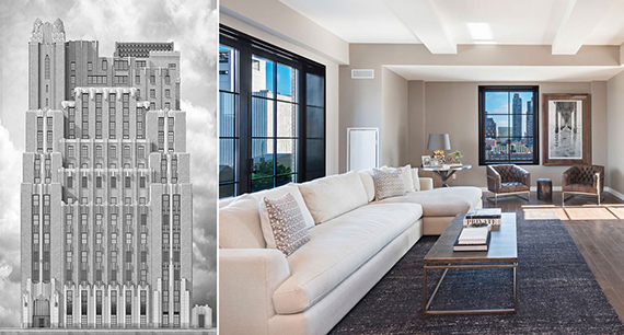 From left: Stella Tower and the $14 million penthouse