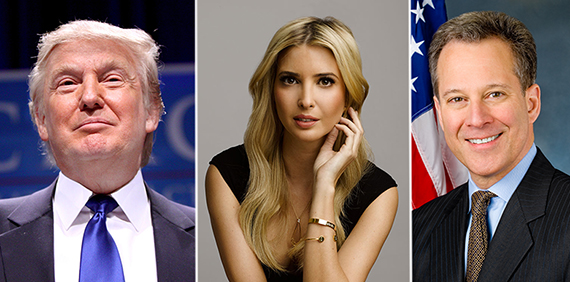 From left: Donald Trump, Ivanka Trump and Eric Schneiderman