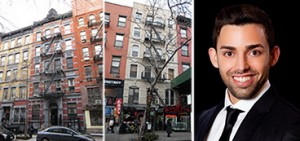 From left: 253 East 10th Street, 27 St. Mark's Place and Raphael Toledano
