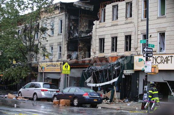 The aftermath of the Borough Park explosion