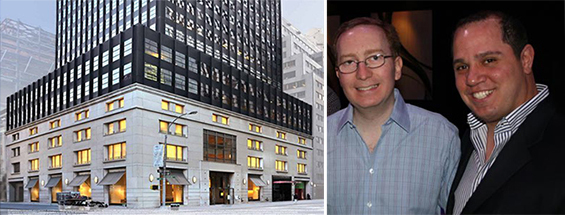 A rendering of 645 Madison Avenue with William and Rick Friedland