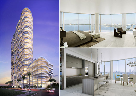 Renderings of Melo Group's Aria on the Bay project at 1770 North Bayshore Drive
