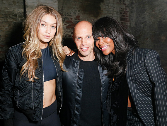 From left: Gigi Hadid, Keith Rubenstein and Naomi Campbell (Credit: Angela Pham and Matteo Prandoni/BFA Gallery)