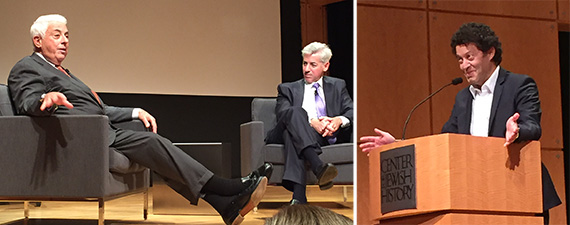 From left: Larry Ackman, Bill Ackman and Simon Ziff