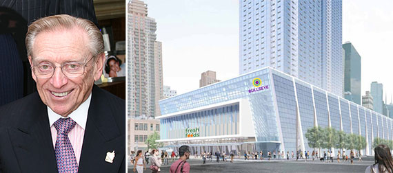 From left: Larry Silverstein and a potential rendering for 514 11th Avenue