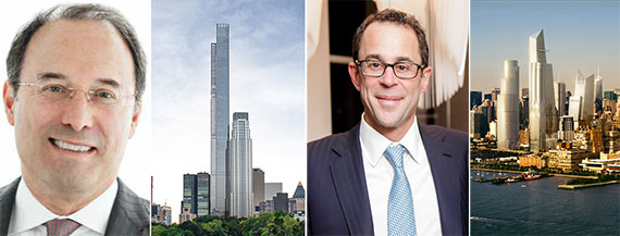 From left: Gary Barnett (Photo: STUDIO SCRIVO), 217 West 57th Street, Jeff Blau and the Hudson Yards megadevelopment