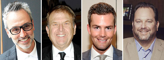 From left: Leonard Steinberg, Richard LeFrak, Ryan Serhant and Andrew Heiberger