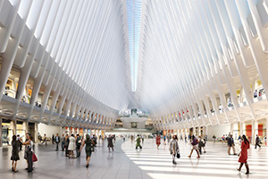 A rendering of the Oculus at the Westfield World Trade Center