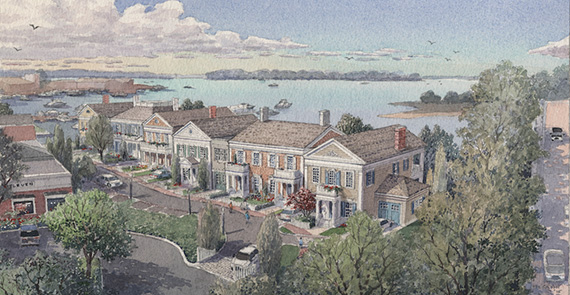 Rendering of One Ferry Road (credit: Robert A.M. Stern Architects)