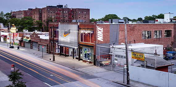 The Nike store at 2236 Nostrand Avenue
