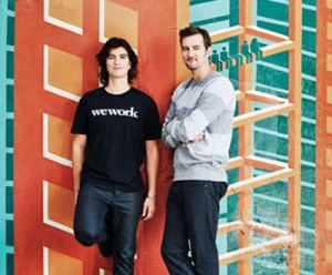Adam Neumann and Miguel McKelvey