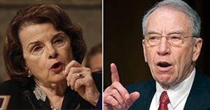 From left: Sen. Dianne Feinstein and Sen. Chuck Grassley