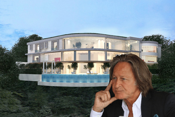 Mohamed Hadid and a rendering of the Bel-Air home