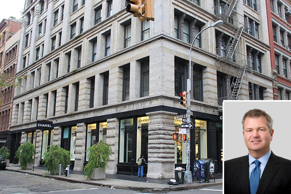 139 Spring Street (inset: Invesco's Marty Flanagan)