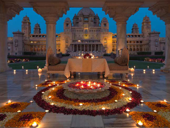Umaid Bhawan Palace in Jodhpur, India.