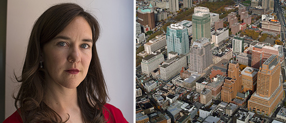 From left: Slate's editor in chief Julia Turner and the Metrotech Center (credit: Forest City)