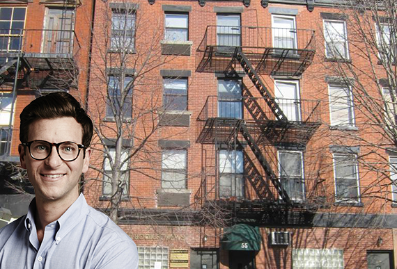 55 Bergen Street in Cobble Hill (inset: Warby Parker CEO Dave Gilboa)