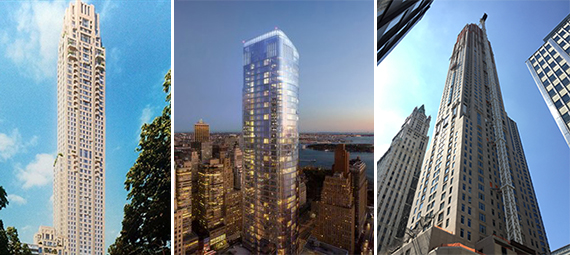 220 Central Park South, 50 West Street and 30 Park Place