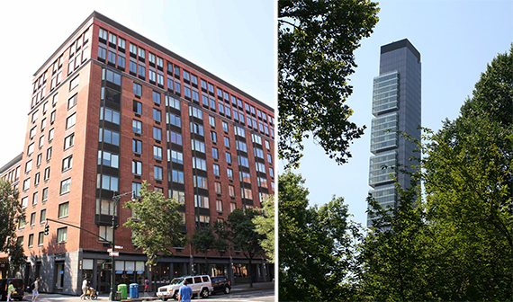 From left: 181 West 87th Street on the Upper West Side and One Madison in the Flatiron District
