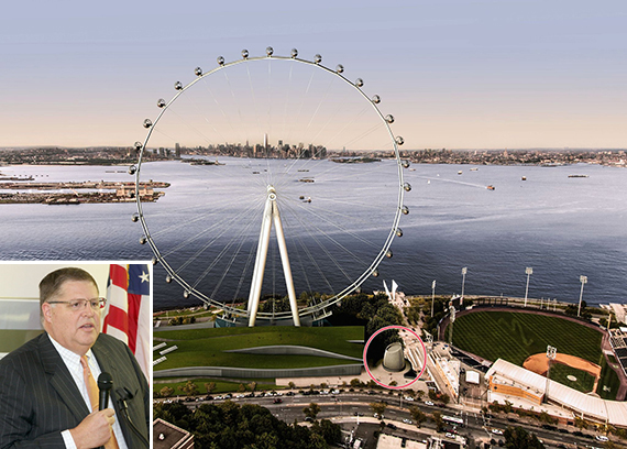 A rendering of the New York Wheel (inset: Rich Marin)
