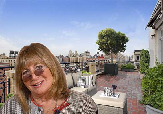 Penny Marshall is listing her UWS penthouse at 470 West End Ave for $5.5M