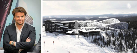 Bjarke Ingles and the Koutalaki Ski Village resort in Finland