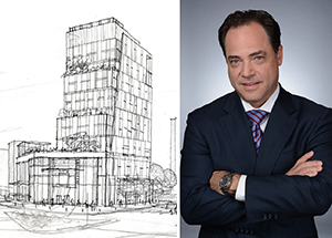 A drawing of 4566 Broadway (creit: LargaVista) and Marcello Procelli
