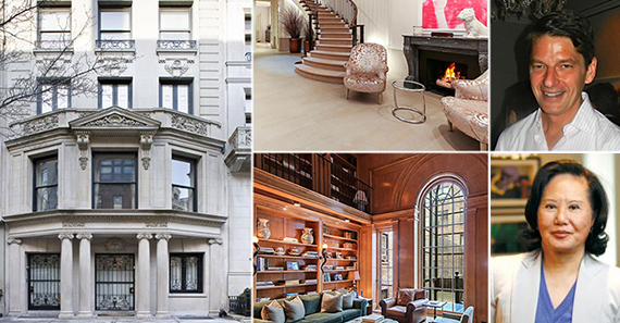 From left: 7 East 67th Street, Charles Murphy and Carrie Chiang