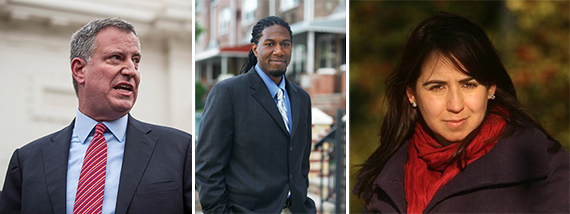 BIll de Blasio, Jumaane Williams and Maritza Silva-Farrell