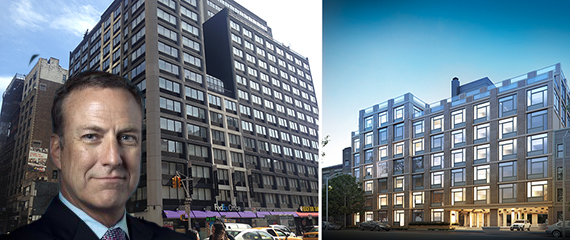 From left: Bob Faith, 160 West 24th Street and a rendering of 247 North 7th Street