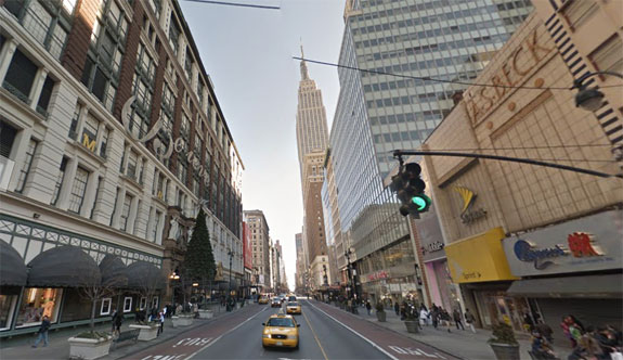 34th Street between 6th and 7th avenues saw the most burglaries in 2015