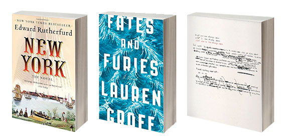 """""""New York: A novel"""" by Edward Rutherfurd, """"Fates and Furies"""" by Lauren Groff and """"What Will Be Has Always Been"""" by Richard Saul Wurman"""