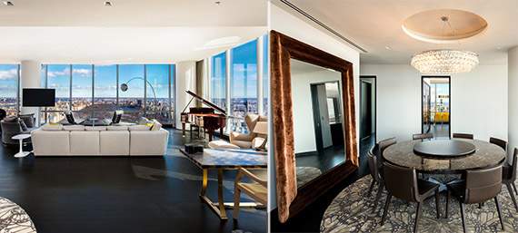 The apartment at 157 West 57th Street
