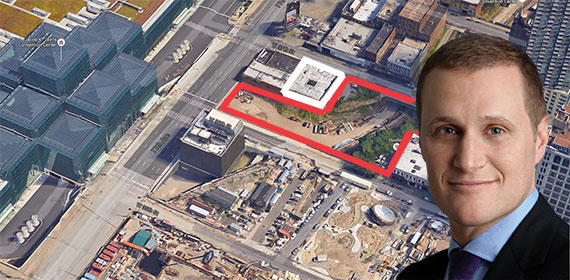 Rob Speyer with Tishman Speyer's development site across from the Jacob Javits Center
