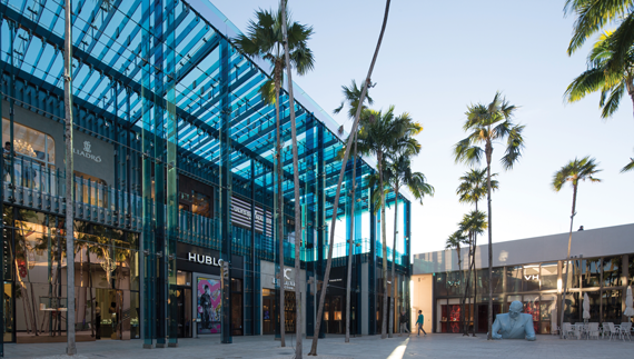 The Miami Design District is stacked with upscale brands like Hublot, Cartier and Céline.