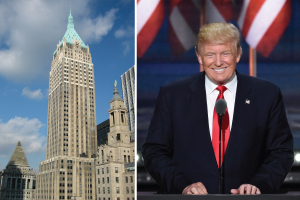 40 Wall Street in the Financial District and Donald Trump