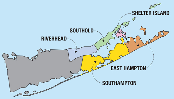 East End Of Long Island Map