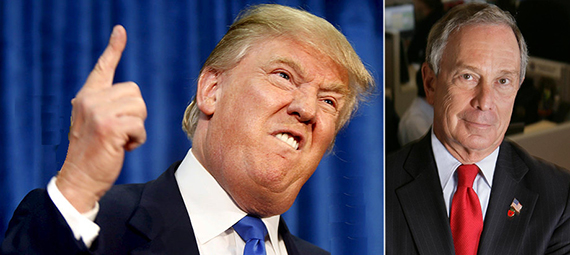 From left: Donald Trump and Michael Bloomberg