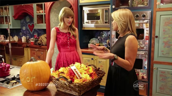 Swift gIving Katie Couric a tour of her Nashville penthouse (image credit: ABC)