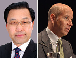 From left: Yang Mingsheng and Barry Sternlicht